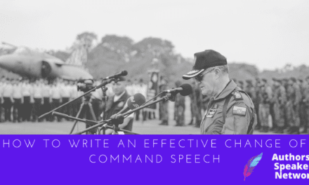 How to Write an Effective Change of Command Speech